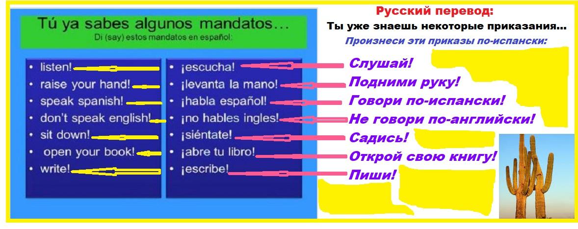 Siete Mandatos Tres Idiomas